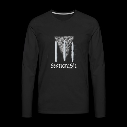 sektionisti 1 - Miesten premium pitkähihainen t-paita
