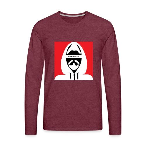 Biturzartmon Hoodie Motiv weiss/rot - Männer Premium Langarmshirt