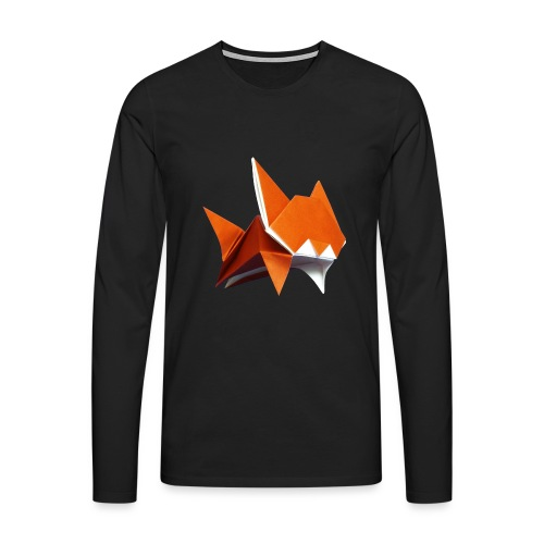 Jumping Cat Origami - Cat - Gato - Katze - Gatto - Men's Premium Longsleeve Shirt
