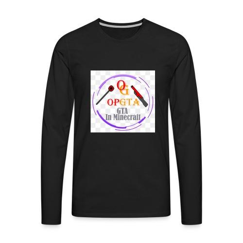 opgta logo - Miesten premium pitkähihainen t-paita