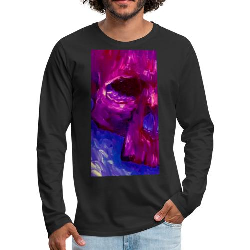 Purple Skull #2 - Mannen Premium shirt met lange mouwen