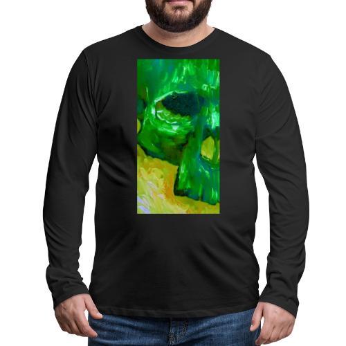 Green Skull #2 - Mannen Premium shirt met lange mouwen
