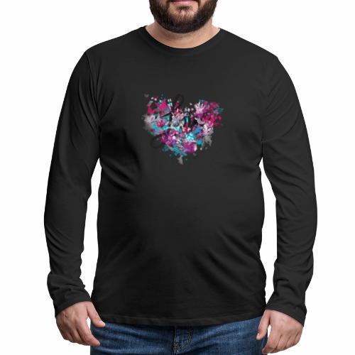 Love with Heart - Men's Premium Longsleeve Shirt