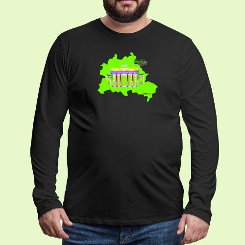 Berlin ist grün und bunt / BerlinLightShow - Männer Premium Langarmshirt