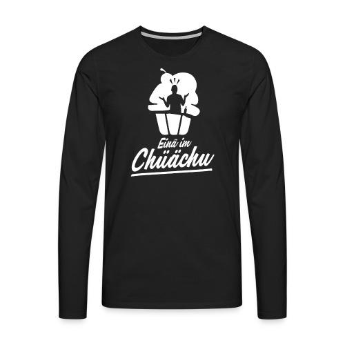 EINÄ IM CHÜÄCHU - Männer Premium Langarmshirt