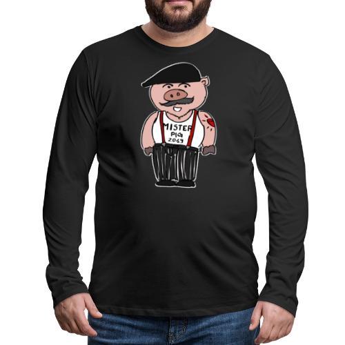 nouvel an chinois - Monsieur Cochon - T-shirt manches longues Premium Homme