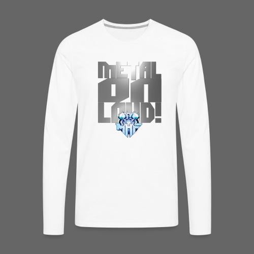 metalonloud large 4k png - Men's Premium Longsleeve Shirt