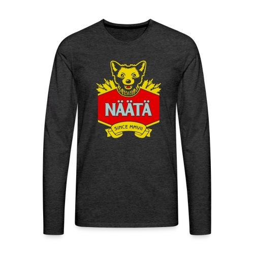 Näätä - Miesten premium pitkähihainen t-paita
