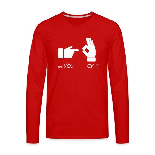 êtes-vous d'accord? (Fun Sex) - T-shirt manches longues Premium Homme