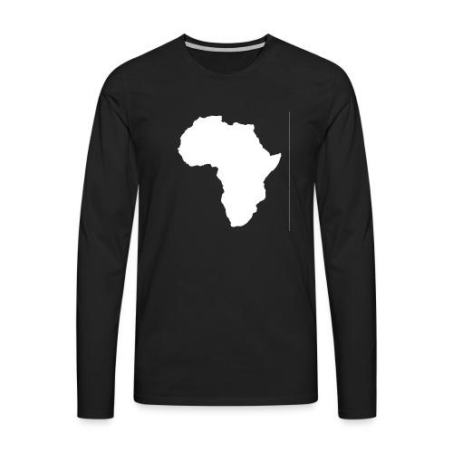 Africa Weiß - Männer Premium Langarmshirt