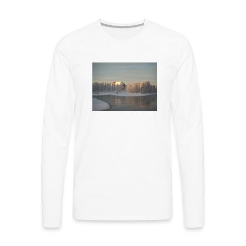 Talvinen Joensuu - Miesten premium pitkähihainen t-paita