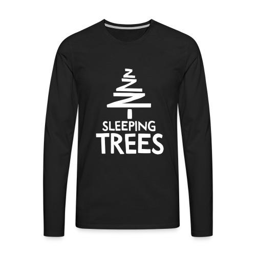 SleepingTrees White png - Men's Premium Longsleeve Shirt