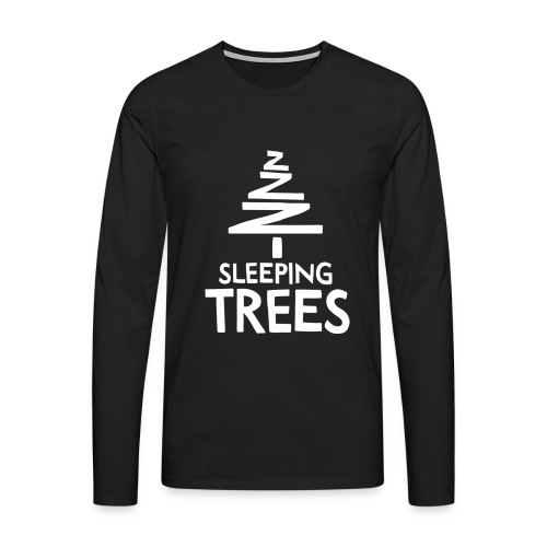 SleepingTrees White png - Men's Premium Longsleeve Shirt