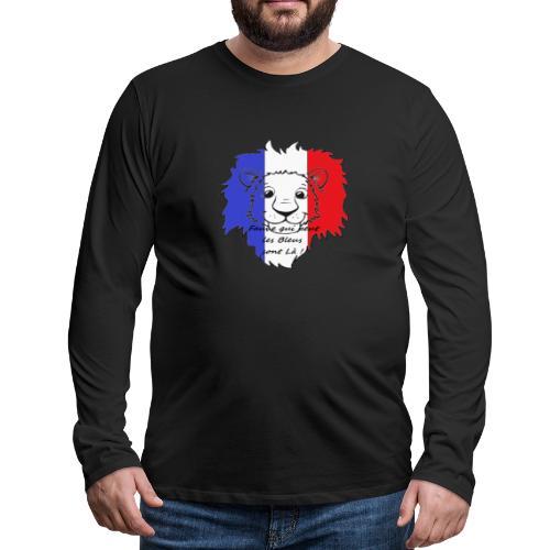 Lion supporter France - T-shirt manches longues Premium Homme