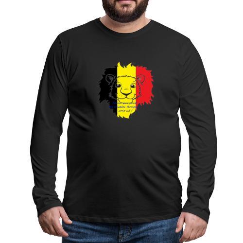 Lion supporter Belgique - T-shirt manches longues Premium Homme