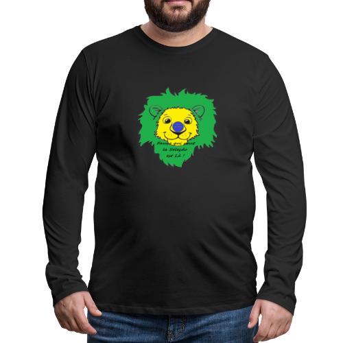 Lion supporter Brésil - T-shirt manches longues Premium Homme