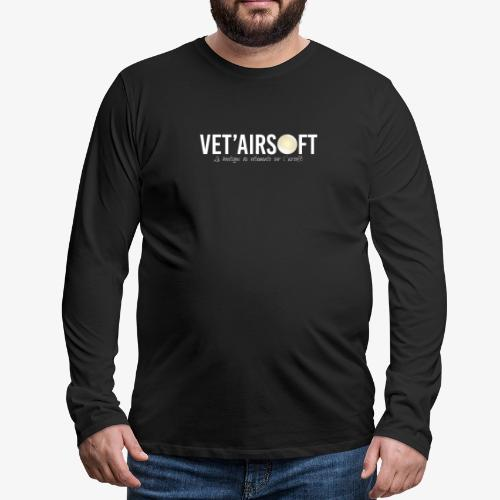 Logo Vet'Airsoft (blanc) - T-shirt manches longues Premium Homme