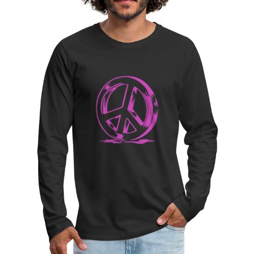 Peace and Love - T-shirt manches longues Premium Homme