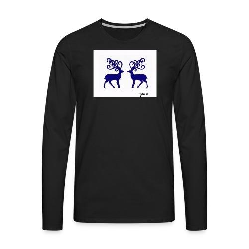 nordicmotif1_blue - Men's Premium Longsleeve Shirt