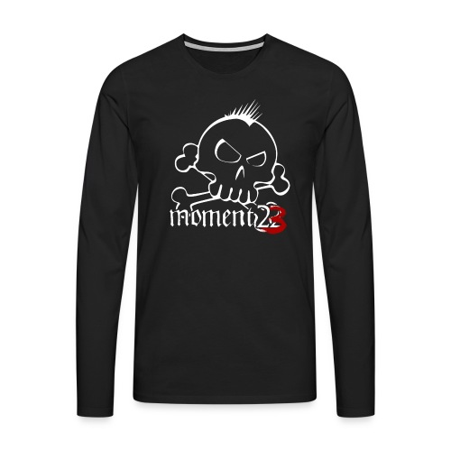 LoggaSkalle png - Långärmad premium-T-shirt herr