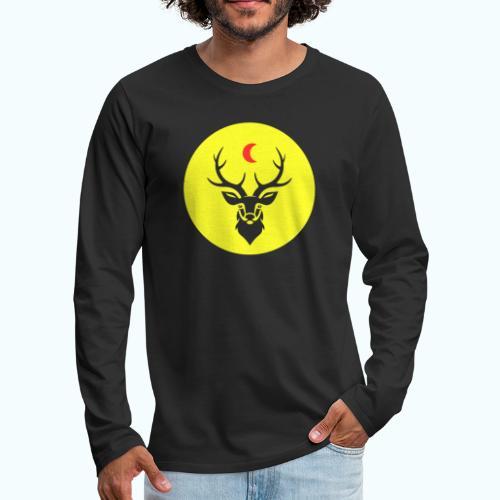 Hipster deer - Men's Premium Longsleeve Shirt
