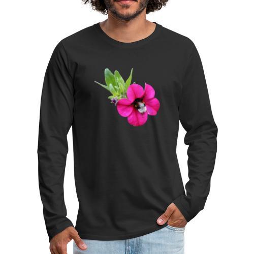Miljoonakello ja kimalainen - Miesten premium pitkähihainen t-paita