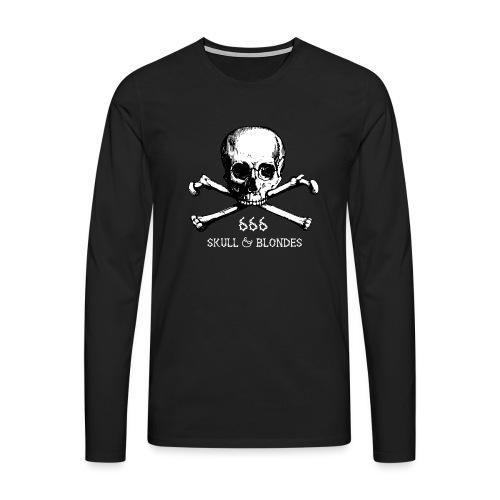 skull & blondes (white) - Männer Premium Langarmshirt
