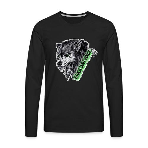 Shaz Der Wolf - Männer Premium Langarmshirt