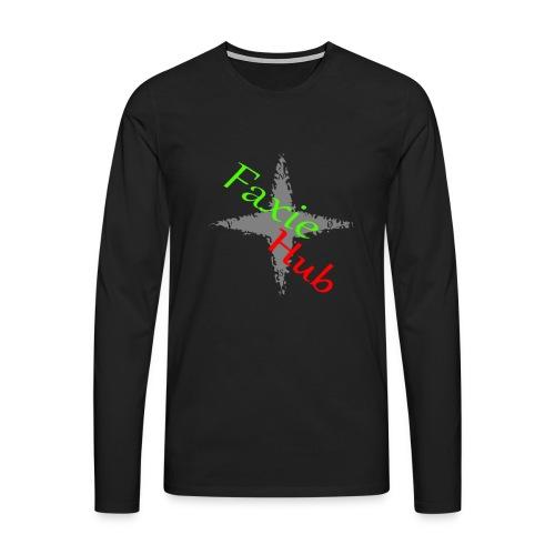FaxieHub - Herre premium T-shirt med lange ærmer