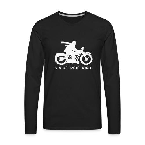 vintage motorcycle - Männer Premium Langarmshirt