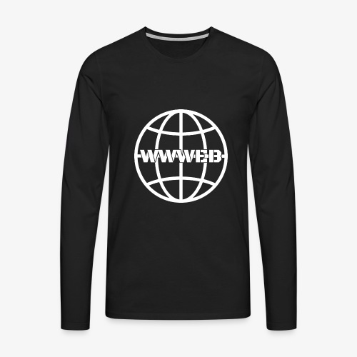 WWWeb (white) - Men's Premium Longsleeve Shirt