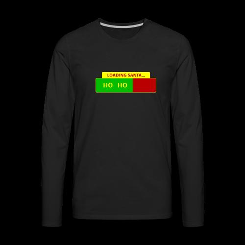 Loading Santa - Miesten premium pitkähihainen t-paita