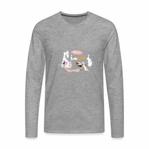 Pintular - Camiseta de manga larga premium hombre