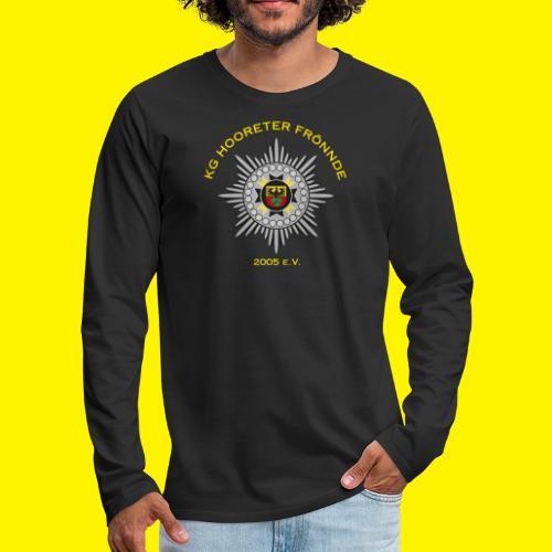 Gelbe Schrift - Männer Premium Langarmshirt