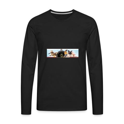 Animaux logo - Mannen Premium shirt met lange mouwen