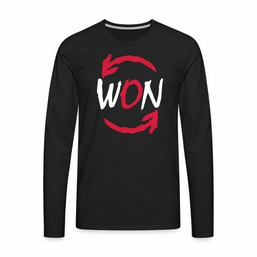 WONOW LOGO BIANCO - Maglietta Premium a manica lunga da uomo
