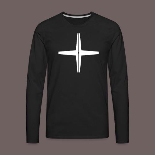 GBIGBO zjebeezjeboo - Rocher - Place au milieu - T-shirt manches longues Premium Homme