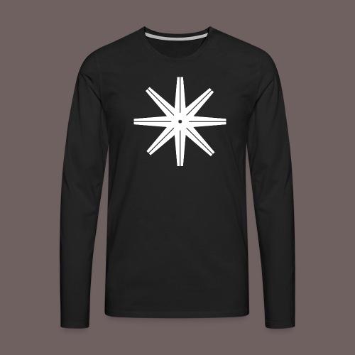 GBIGBO zjebeezjeboo - Rock - Octastar Blanc - T-shirt manches longues Premium Homme