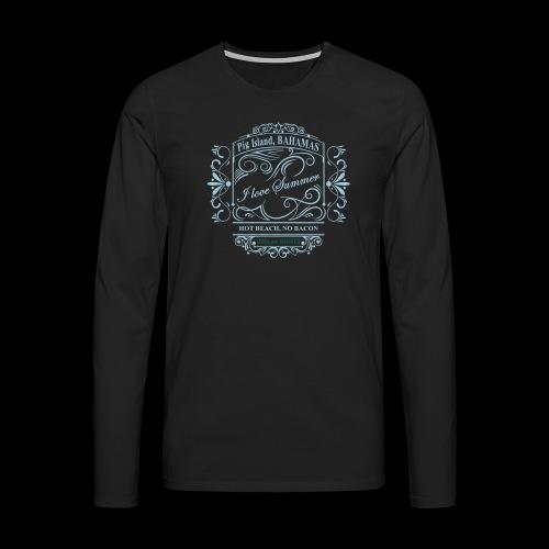 i love summer pig island - Men's Premium Longsleeve Shirt