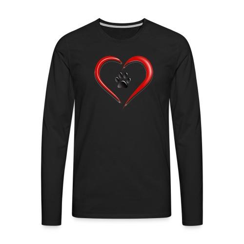 Shirt Herz auf vier Beinen - Männer Premium Langarmshirt