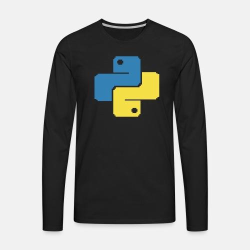 Python Pixelart - Men's Premium Longsleeve Shirt