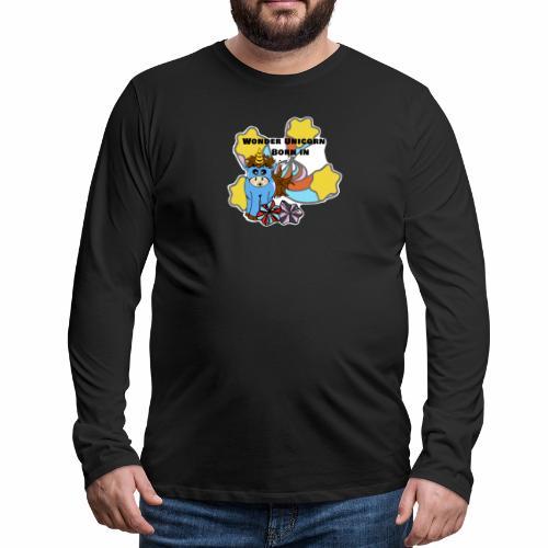 Une merveilleuse licorne est née (pour garcon) - T-shirt manches longues Premium Homme