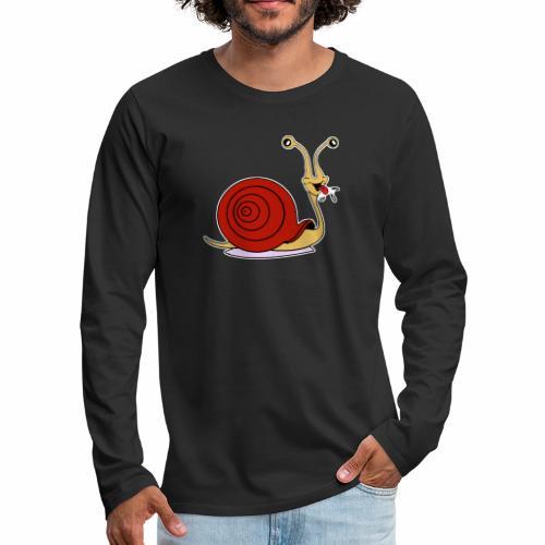 Escargot rigolo red version - T-shirt manches longues Premium Homme