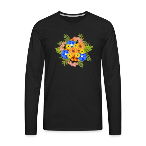 Blue Flower Arragement - Men's Premium Longsleeve Shirt