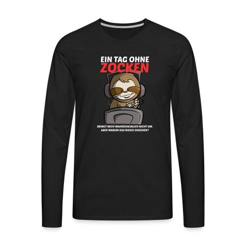Ein Tag ohne Zocken Sloth - Männer Premium Langarmshirt