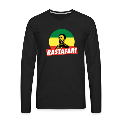 Haile Selassie - Emperor of Ethiopia - Rastafari - Männer Premium Langarmshirt