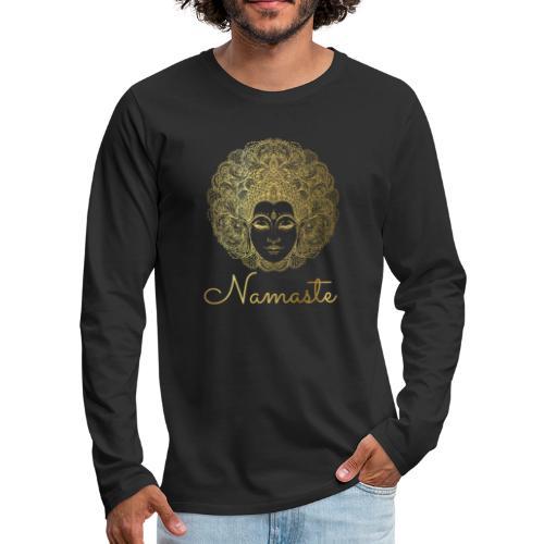 Namaste Meditation Yoga Sport Fashion - Männer Premium Langarmshirt