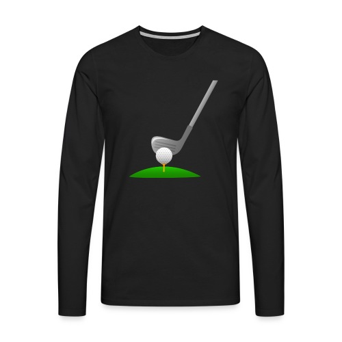 Golf Ball PNG - Camiseta de manga larga premium hombre