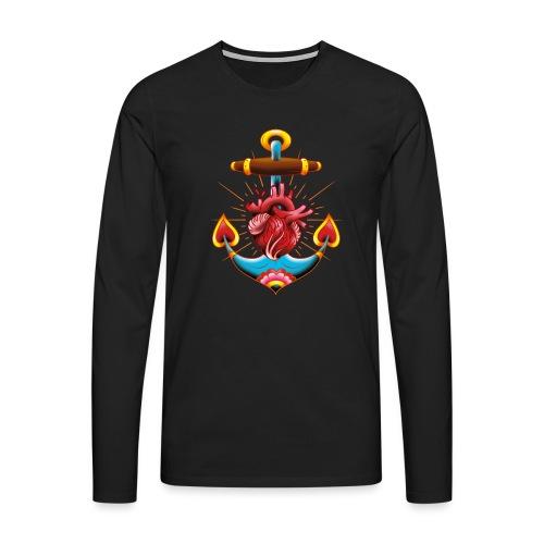 Sailor's Heart - Tattoo design - T-shirt manches longues Premium Homme