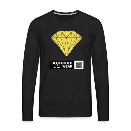 Unisex Diamond Pantone Meadowlark - Männer Premium Langarmshirt